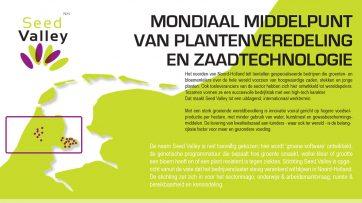 Seed Valley - Nederland, Zaadland - Maatwerk infographic