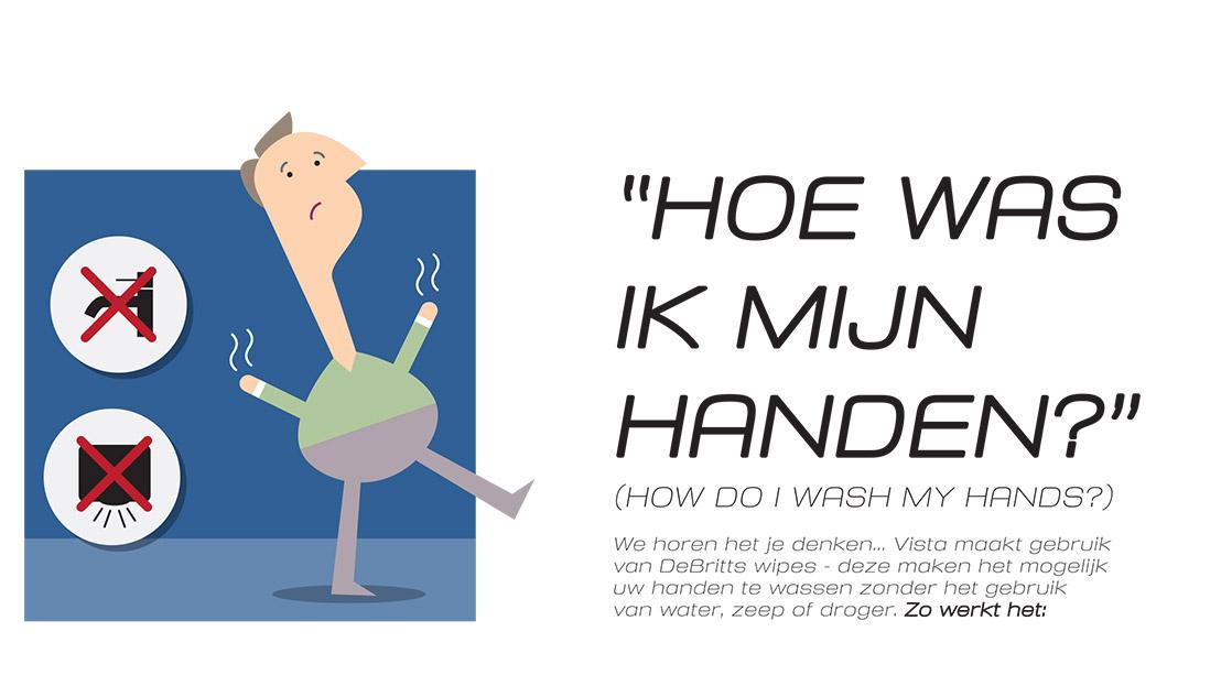Vista Willemstad - Hoe was ik mijn handen? - Huisstijl Infographic
