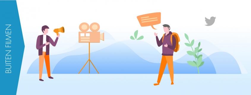 Buiten een bedrijfsfilm filmen