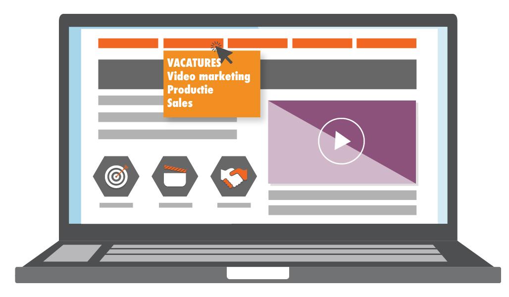 video recruitment vacature pagina