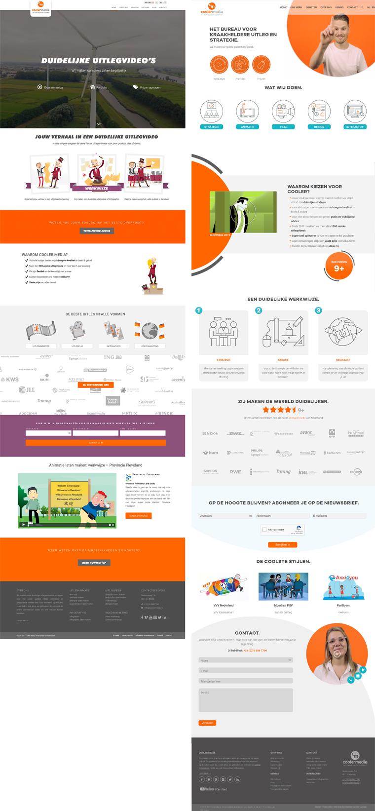Oude website vs. Nieuwe website
