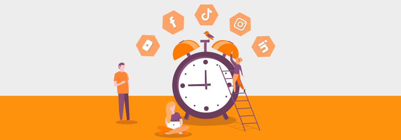 tijd posten social media